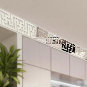 3D Mirror Wall Stickers Waistline Ceiling Wall Paper Border Home TO