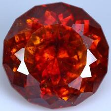 8.27CTS Natural Round Orange Sphalerite Spain Loose Gemstone With Free Shipping.