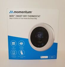 Momentum Meri Smart WiFi Thermostat- Wired- Works with Google Assistant - NEW