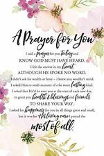 "NEW Dexsa A Prayer For You 6"" x 9"" Wood Plaque with Easel DX5010"