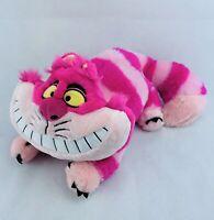 "Disney Store Cheshire Cat Plush Toy Alice in Wonderland 20"" Stuffed Animal Pink"
