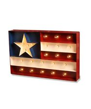 Bethany Lowe Americana Marquee Sign with Glass Lights,15'' x 24''~ 4th of July!