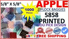 5858 MINI ZIPLOCK BAGS DESIGN BAGGIES TINY 5/8X5/8 U PICK 100 X 10 DESIGN = 1000
