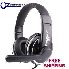 Headset Headphone with microphone silver & black colour new for PC SKYPE 3.5mm