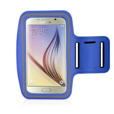 Samsung S6 Edge Armband Tie Latest Gym Jogging Sweat-proof Neoprene Dark Blue