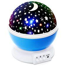 Proyector De Luz LED Con La Luna Y Las Estrellas Rotación 360 Grados Cable USB