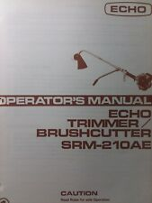Echo Kioritz Srm 210ae Gasoline Brushcutter Line Trimmer Owner Amp Parts Manual