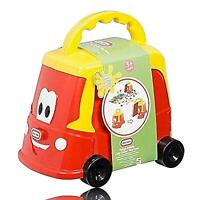 KIDS LITTLE TIKES TOY TRUCK SET- FUN CRAFT SOFT DOUGH CLAY SHAPES  ACTIVITY-RED