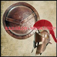 300 King Spartan Movie Helmet + Spartan Shield Combo offer /role play/ theater