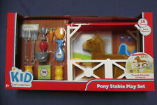 New Pony Stable Play Set 15pc Plush Horse Trough Care Items Girl 's Toy Gift NIB