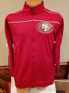 BEAUTIFUL San Francisco 49ers Men's Lg Majestic Red Zippered Jacket, NEW&NICE!