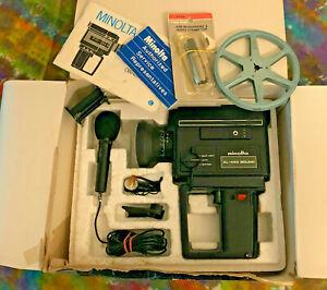 Vintage MINOLTA XL-440 Sound Super 8 Movie Camera with Manual, Box & Accessories