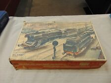 VINTAGE TRAIN SET MECHANICAL  WIND UP  WITH KEY   &  TRACKS