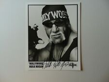 """WWF"" Hulk Hogan Hand Signed 8X10 B&W Photo Todd Mueller COA"