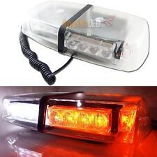 High Power White & Amber 24-LED Flash Strobe Warning Lights Roof Lamp Snow Plow