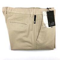 Pal Zileri Lab Mens Beige Brown Skinny Slim Chino Khaki Pants Size 38