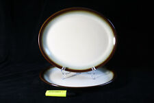 Vintage set of 2 large oval dishes Franciscan Chestnut, Made in England