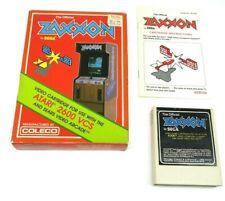 Zaxxon (Atari 2600, 1982) By Coleco (Box, Cartridge & Manual) NTSC #2
