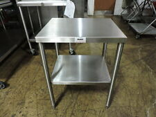 Commercial Stainless Steel Work Table With Undershelf 24 X 20