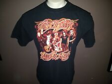 2007 Aerosmith Tour Concert T Shirt Men's XL European Cities