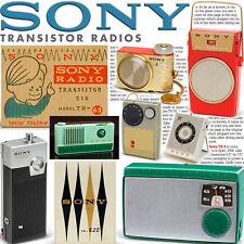 SONY transistor radios book TR-55 TR-52 TR-63 TR-33 ICR-100 TR-86 vintage Japan
