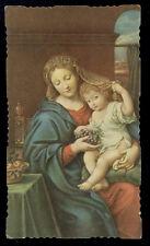 "santino-holy card ""ediz.NB-MADONNA DELL'ABBONDANZA"