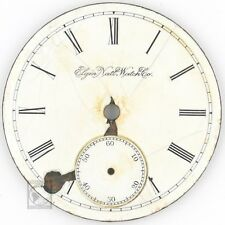 Antique Elgin National Watch Co 18 Size White Porcelain Dial Roman Numerals