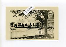 Cape Cod MA Mass RPPC real photo lovely woman outside garden shop, vintage card