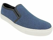 Kenneth Cole Reaction Men's Done It Again Sneakers Navy Blue Canvas Size 7 M