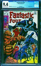 Fantastic Four #82 CGC 9.4 -- 1969 -- Inhumans Kirby Sinnott cover #2103994019