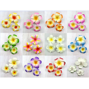 9cm DIY  Foam Floating Frangipani/Plumeria/Hawaiian Flower Head mix color
