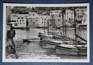POLPERRO   Fishing Boats     Cornwall  Original 1930's Vintage Photo Card