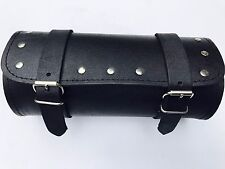MOTORCYCLE MOTORBIKE REAL LEATHER TOOL ROLL SADDLE BAG ZN-TRB005