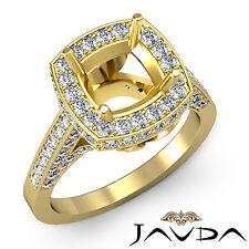 Diamond Engagement VS1-VS2 Ring Pave 14k Yellow Gold Cushion Semi Mount 1.3Ct