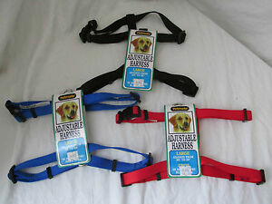Brand New Petmate Nylon Dog/Cat/Pet Adjustable Harness Multiple Colors & Sizes