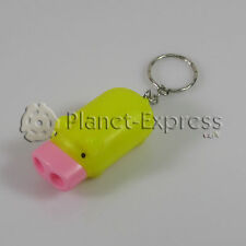 Portachiavi Torcia 2 Led Piccolo maiale giallo y rosa. Ideale chiavi Casa,Auto