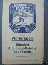 4752 MEINHOLD Landkarte Kipsdorf Altenberg Geising 1920