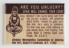 Lucky Genie FRIDGE MAGNET (2 x 3 inches) comic book advertisement bottle lamp