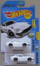 Hot Wheels ( 2x ) Factory Fresh CUSTOM DATSUN 240Z white 3/10 76/365
