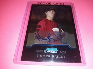 Homer Bailey RC Auto 2004 Bowman Chrome Cincinnati Reds