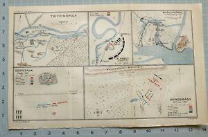 MAP/BATTLE PLAN TRICHINOPOLY PLASSEY JUN 23 1757 MEER JAFFIER MASULIPATAM