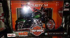Harley Davidson 2013 XL 1200V SEVENTY-TWO Motorcycle Diecast 1:12 Maisto 5in GRN