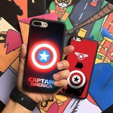 Captain America Superhero Marvel Silicone Case Cover For iPhone Samsung Galaxy