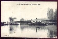 cpa 21 St-Jean-de-Losne . vue sur la Saône . Côte-d'Or . Bourgogne