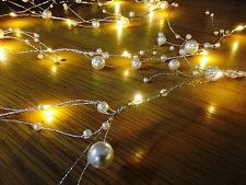 2m LED Navidad PERLA Cuerda Jardín Guirnalda Espray Luces