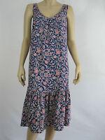 Crossroads Ladies 30s Rayon Midi Ruffle Dress sizes 8 10 12 14 16 18 Floral