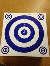 100 x 17x17cm Top Quality Air Rifle Pistol Shooting 2 Colour Paper Targets 110g
