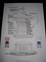 1937 FA Cup final Sunderland v Preston North End Matchsheet