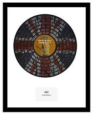 OASIS - MEMORABILIA - WONDERWALL - VINYL RECORD LYRIC ART - Limited Edition