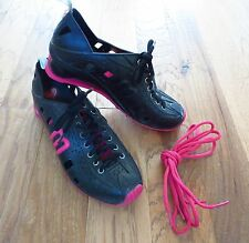 1980'S LOVE SYSTEM I LOVE MELISSA PINK & BLACK FASHION SHOES SNEAKERS SIZE 7